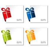Paper Christmas gift, bent tape — Stock Vector