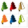 Vector Christmas tree, bent tape - Stock Vector