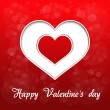 Vector red heart - valentines day background - Stock Vector
