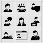 Vector human icons - businessman, community, social network — Stock Vector