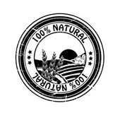 Vector natural rubber stamp, pure nature — Stock Vector