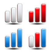 Jeu de graphe statistique - symbole, icône vectorielles — Vecteur