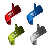Vector paper best choice elements - hand gesture — Stock Vector