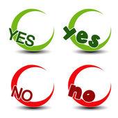 Vector yes no symbol - positive negative icon — Stock Vector