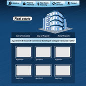 Vector web template, real estate webdesign proposal — Stock Vector