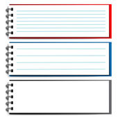 Vector blank open notebook — Stock Vector