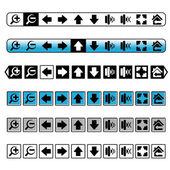 Vecteur des boutons de navigation, icônes simples — Vecteur