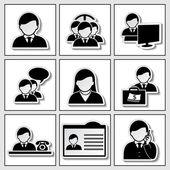 Vector iconos humana - hombre de negocios, comunidad y eventos — Vector de stock