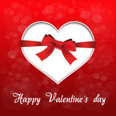 Vector red heart - valentines day background — Stock Vector