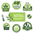 Vector nature symbols for natural product — Stock Vector