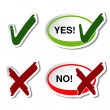 Vector yes no button  — Imagen vectorial