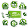 Vector nature stickers for natural product — Stock Vector