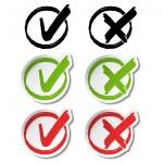 Vector circular check mark symbols — Stock Vector #33334663
