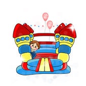 Vector bouncy castle — Stock Vector