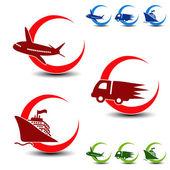 Vetor de transporte, símbolos de entrega — Vetorial Stock