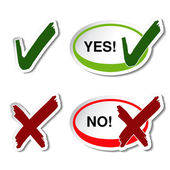 Vector yes no button — Stock Vector