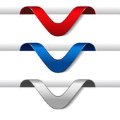 Vector arrow labels — Stock Vector