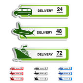 Vector shipping, delivery stickers — Stock Vector