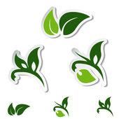 Vector símbolos naturais — Vetor de Stock