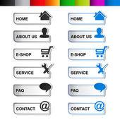 Vector web navigation template — Stock Vector