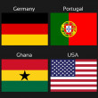 Постер, плакат: Vector flags football Brazil group G Germany Portugal Ghana USA