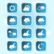 Vector weather forecast, banners, buttons - weather symbols — Stock Vector #38396011