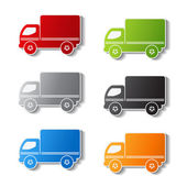 Vector truck symbols - delivery icon, sticker — Stock Vector