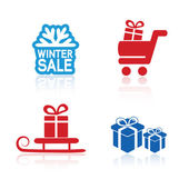 Christmas advertising symbols — Stock Vector