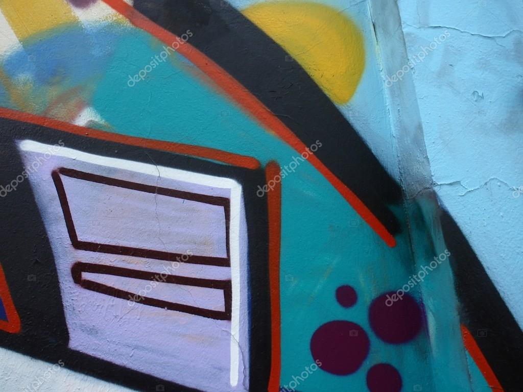 Detail of graffiti on a wall ideal for urban or grunge background. — Stock Photo #13917682
