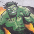 Stock Photo: HULK GRAFFITI DETAIL