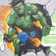 Stock Photo: GRAFFITI DETAIL HULK