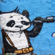 GRAFFITI DETAIL PANDA - Stock fotografie