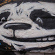 GRAFFITI DETAIL PANDA — Stock Photo