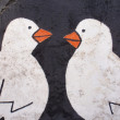 Graffiti detail birds - Foto Stock