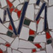 Mosaic of broken tiles - Stock Photo