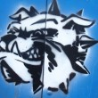 Bulldogs head graffiti — Stock Photo