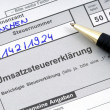 German tax form waiting to be completed - Stock Photo
