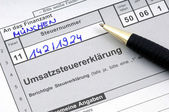 German tax form waiting to be completed — Stock Photo