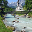 Ramsau church — Stock Photo