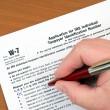 Tax form for Non-US-citizens for avoid US withholding-tax — Stock Photo