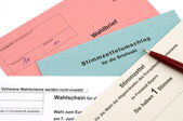Absentee ballot for European Parliament — Stock Photo