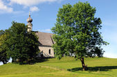 Ettendorf Church near Traunstein - not far away Pope Benedict XVI lived in his youth — Stock Photo