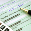 Stock Photo: Tax form for the German inheritance tax ready to complete