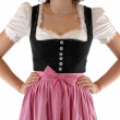 A young woman in Bavarian Dirndl — Foto Stock