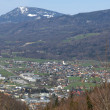 Stock Photo: View from Bad Duerrnberg to Hallein and Salzburg in Austria