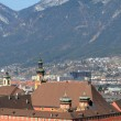 Panoramic view of Innsbruck in Tyrol - Austria — Stock Photo