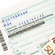 Offical German tax form for the tax year 2009 without personal informations — Stock Photo