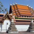 wat phra kaeo and the grand palace are full of many religious works — Stock Photo