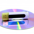 CD with USB stick as symbol for data protection — Stock Photo #12469319