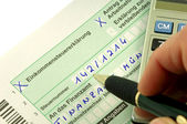 Tax form for the German inheritance tax ready to complete — Stock Photo